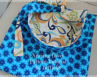 Easy Nursing Cover Pattern Tutorial W PHOTOS pdf. Simple to Make, Instant Download