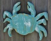 Nautical Wall Art, Petite Wooden Crab, Ocean Decor, Coastal Living, Mantle Display