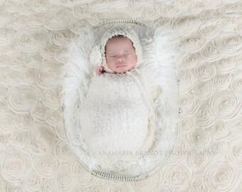 Mohair Baby Bonnet