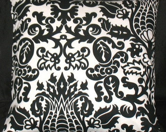 NEW  18 x 18 Pillow Covers Black Amterdam Fabric Both Sides