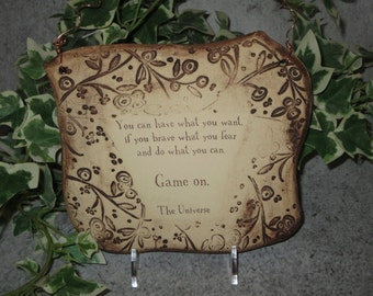 Message from the Universe Inspirational Quote Ceramic Plaque