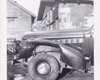 Wrecked Car - Vintage Photograph (ZZ)