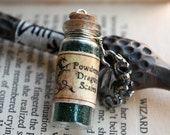 Powdered Dragon Scales glass potion vial Necklace Choose your color