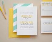 Wedding Invitation Sample - The Abigail Suite