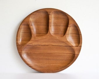 Vintage Danish Modern Teak Wood Tray