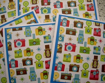 Colorful Cameras - Blank Notecards - Set of 6 - Photography Thank You