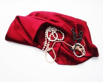 2 Meters (2.2 Yards) Pure Thai Silk Fabric- 115cm. Wide - Maroon Burgundy