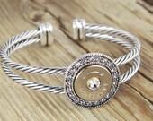 Bullet Bracelet / Fire & Ice Bullet Bracelet SL-4570-N-FIB / Fire and Ice / Silver Bracelet / Swarovski Crystals / Custom Bracelet