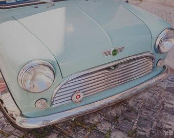 Mint Mini, Mint Car Photography, Vintage Style, Vintage Art, Wall Decor, Boys Room Decor, Nursery Art Print, Boys Room Decor
