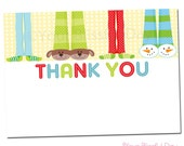PRINTABLE Boy Pajama Party Thank You Cards #563