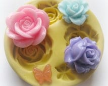 Resin flower mold Butterfly polymer clay fondant flower mold flower molds rose mold silicone flower mold flower resin mold flower cab mold