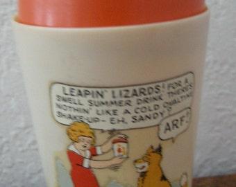 Vintage Little Orphan Annie Ovaltine Shake Up Mug