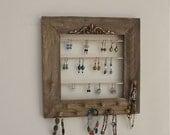 Necklace Jewelry Holder, Earring Organizer, Wall Jewelry Storage.