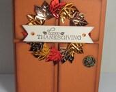 Happy Thanksgiving Front Door Wreath Card
