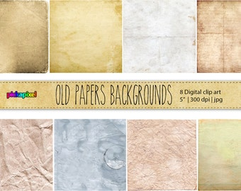 Old Papers Backgrounds - Digital clip art - Personal and Commercial Use