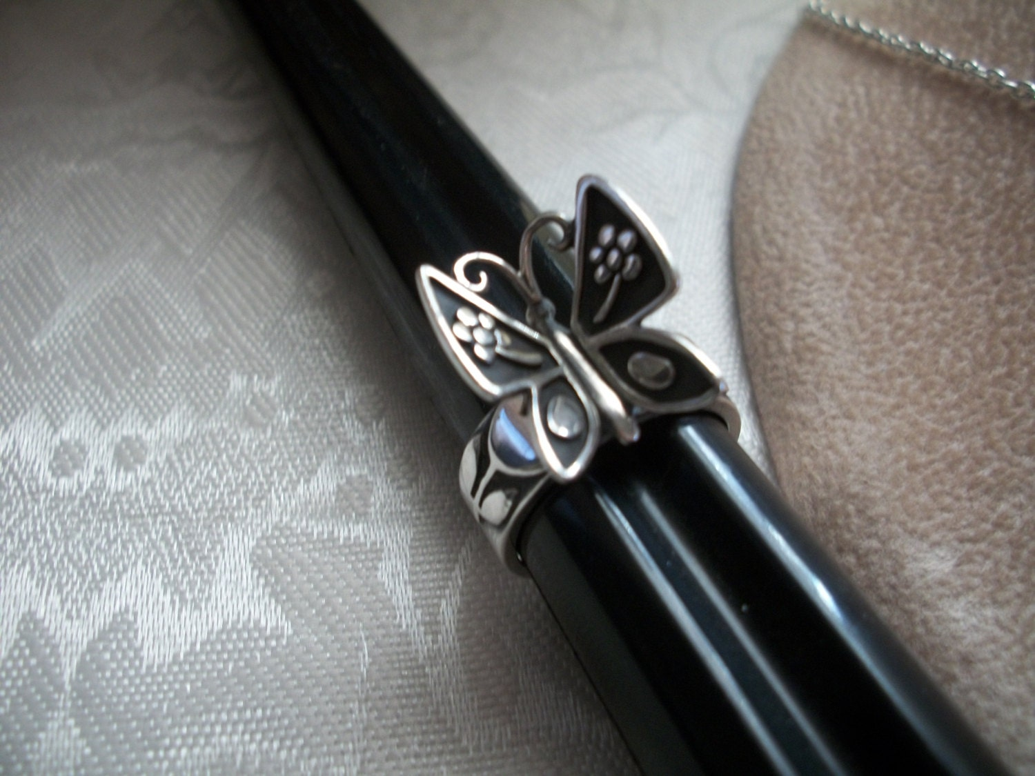 james avery mariposa butterfly ring sterling silver size 8