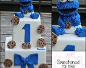 Cookie Monster Cake topper