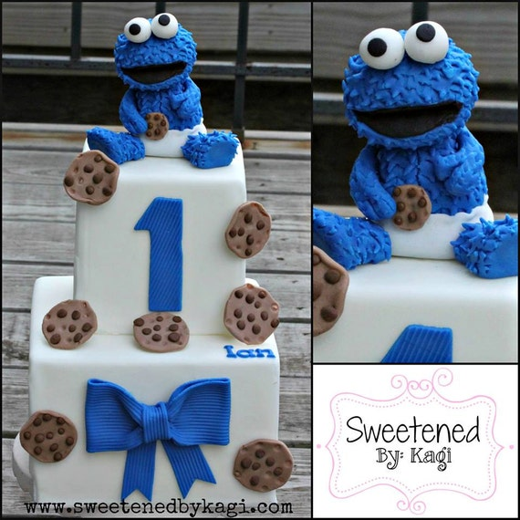 Items similar to Cookie Monster Cake topper on Etsy