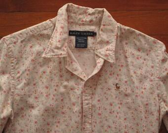 women's vintage Ralph Lauren floral button up