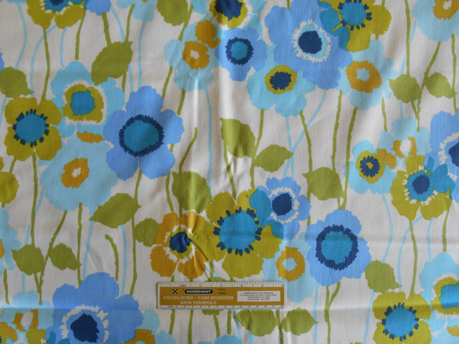 Waverly Home Decor Fabric Pick A Poppy Bluebell 100% Cotton