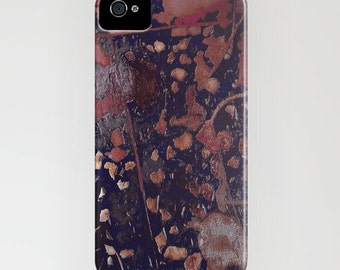 Abstract Phone Case - Ruset Gold Texture Painting - Designer iPhone Samsung Case