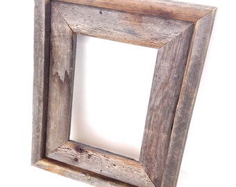 Rustic Grey Real Barn Wood Frame - Home Decor - Picture Frame