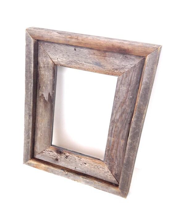 rustic grey real barn wood frame home decor picture frame. Black Bedroom Furniture Sets. Home Design Ideas