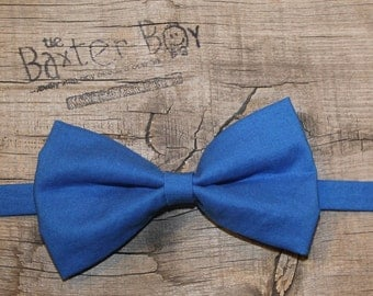 Solid Royal Blue Bow Tie for little boys - wedding, ring bearer, little boy, accessory