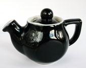H. F. Coors teapot, black teapot, small teapot