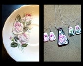 Custom Made RECYCLED HEIRLOOM CHINA Plate Jewelry - Reserved for Courtney and Rhonda