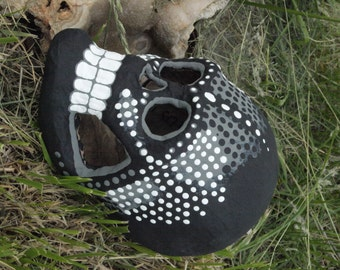 20% off Hand-Painted Sugar Skull-- One of a kind Dia de los Muertos (Day of the Dead) paper mache skull