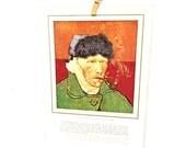 1930s French Article on Van Gogh, Vintage Van Gogh Self Portrait, France Etrennes 1937, 1930s Paper Ephemera, L'Illustration