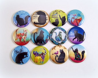 Cat Magnets Pins Fundraiser Gift Sets Party Favors Silhouettes
