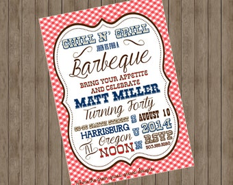 Barbeque Invitations Printable
