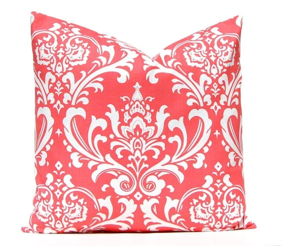 Pillow Covers Beach Decor Coral Pillow by CompanyTwentySix on Etsy