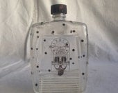Vintage apothecary bottle polka dot bottle