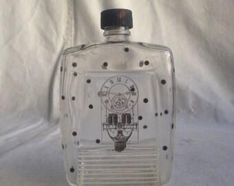 Vintage apothecary bottle polka dot bottle