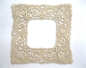 Venice Lace Applique Frame Ornate Golden for Crazy Quilting Pictures