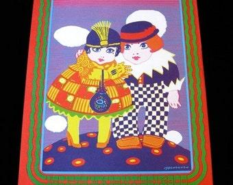 Summer Of Love Moscoso Original 1967 Neon Rose Poster Fillmore Era BLUSHING PEONY Haight Ashbury NR-17