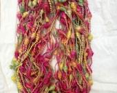 Reserve for Petalknits Handspun Art Yarn - Marigold Baubles