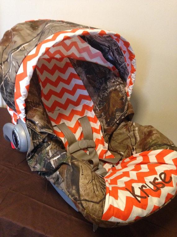 Realtree Camo Fabric Amp Orange Chevron Infant By