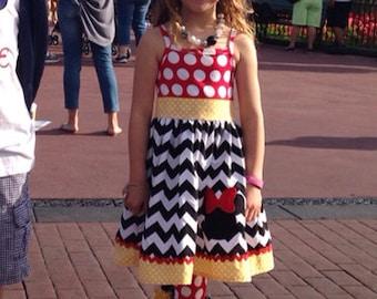 Classic Minnie Chevron Knit Tank Dress