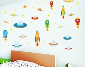 Set of space wall decal