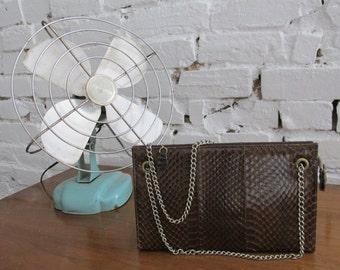 Vintage Brown Snakeskin Purse Handbag
