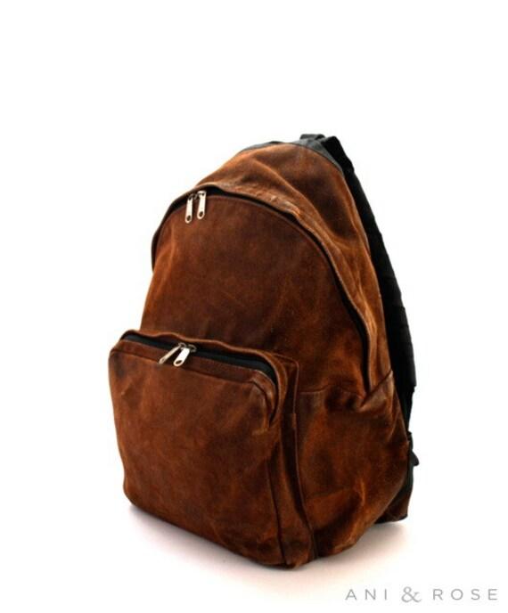 CINNAMON Suede Leather Eastpak Backpack