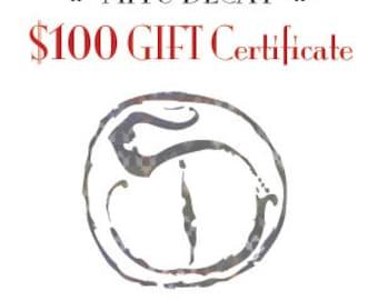 100 Dollar Miyu Decay Gift Certificate