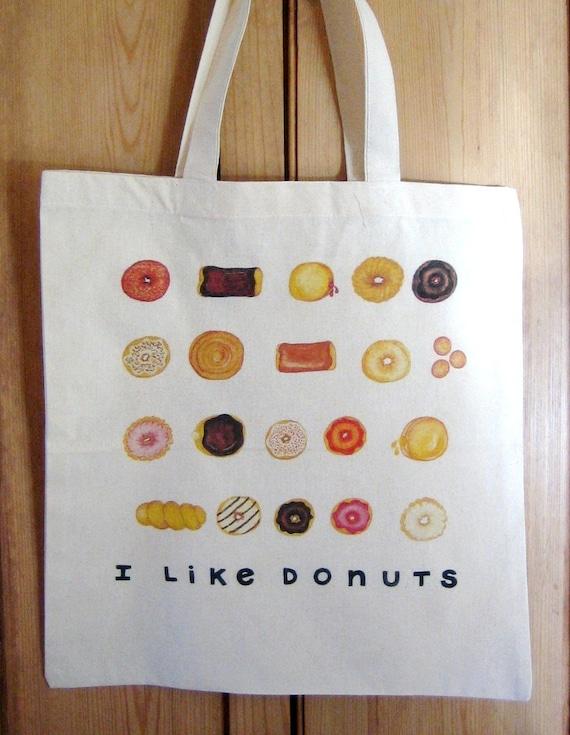 I Like Donuts Tote Bag