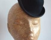 Felt Mini Bowler Hat  - Black