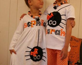 Itsy Bitsy Spider Ruffle Pant Set - Infant Toddler Youth Girl Sizes