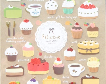Patisserie Cakes & Cupcakes stickers - 1 Sheets by Funny SS252